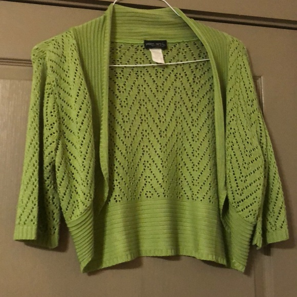 Vintage Yarn Art Olive Green short sweater